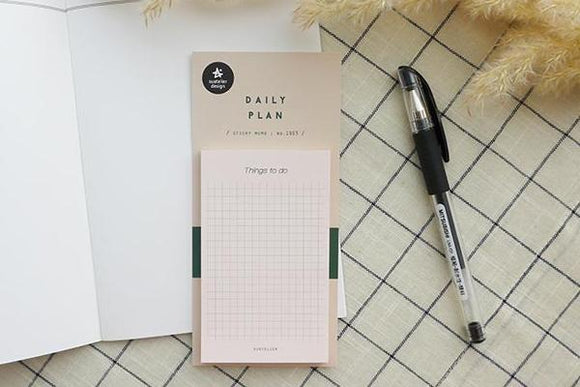 Suatelier Daily Plan Sticky Memo // Cream