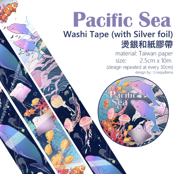Hologram Foil Washi Tape / Pacific Sea