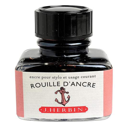 J.Herbin Fountain Pen Ink 30ml - Rouille d'Ancre (Rusty Anchor Red)