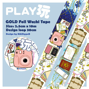 MAOtypeB Gold Foil Washi Tape / Play