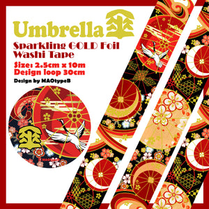 MAOtypeB Gold Foil Washi Tape / Umbrella