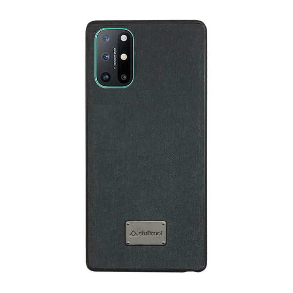Stuffcool Noble PU Leather Back Case Cover for OnePlus 8T - Black