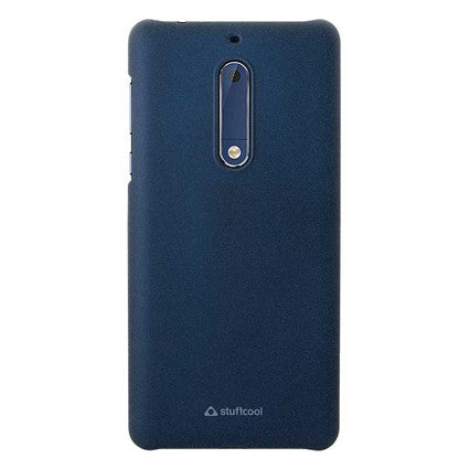Stuffcool Anti Skid Textured & Hard Back Case Cover for Nokia 5 - Blue