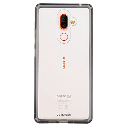 best cheap 81eaa f12bf Stuffcool Claro Hard Back Soft Frame Case Cover for Nokia 7 Plus - Grey