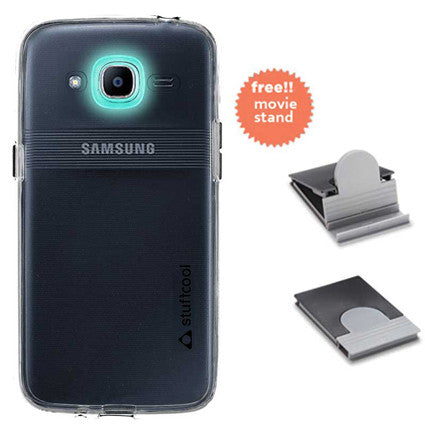 Stuffcool Clair Transparent Hard Back Case Cover for Samsung Galaxy J2 2016 - Clear