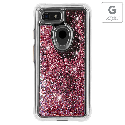 Case-Mate Waterfall Hard Back Case Cover for Google Pixel 3 XL - Rose Gold (Authorized made for Google Pixel Accessory)