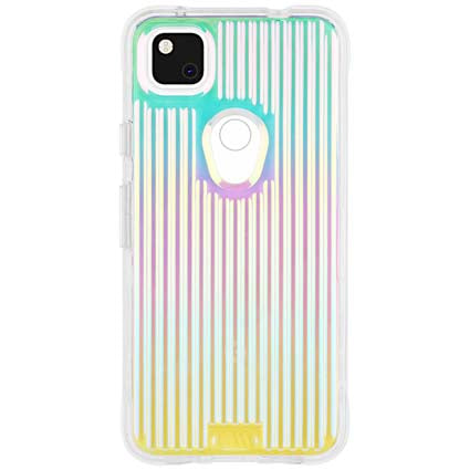 Case-Mate Tough Groove Hard Back Case Cover for Google Pixel 4A - Iridescent