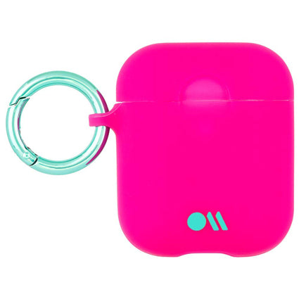 Case-Mate AirPods Case Cover Hook Ups - Silicone Compatible with Apple AirPods Series 1 & 2 - Fuchsia Dark Pink