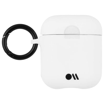 Case-Mate AirPods Case Cover Hook Ups - Silicone Compatible with Apple AirPods Series 1 & 2 - White