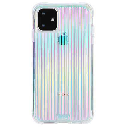"Case-Mate Tough Groove Hard Back Case Cover for Apple iPhone 11 6.1"" - Iridescent"