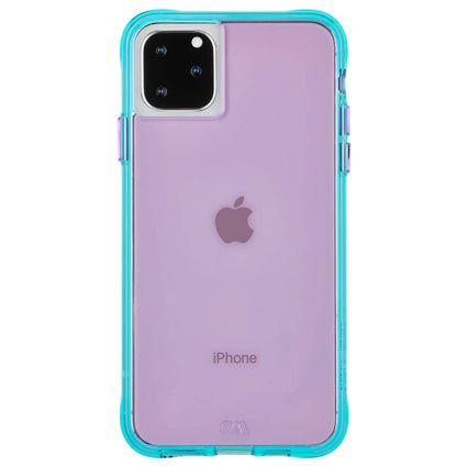 "Case-Mate Tough Hard Back Case Cover for Apple iPhone 11 Pro Max 6.5"" - Neon Purple / Turquoise"