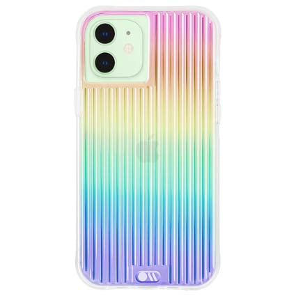 "Case-Mate Tough Groove Hard Back Case Cover for Apple iPhone 12 Mini 5.4"" -Iridescent"