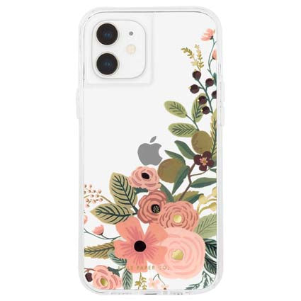 "Rifle Paper Co. Hard Back Case Cover for Apple iPhone 12 Mini 5.4"" - Floral Vines"