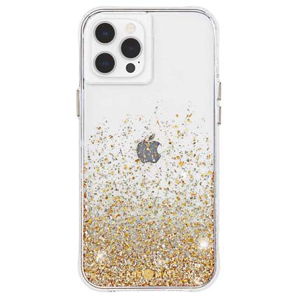 "Case-Mate Twinkle Hard Back Case Cover for Apple iPhone 12 / iPhone 12 Pro 6.1"" -  Gold"
