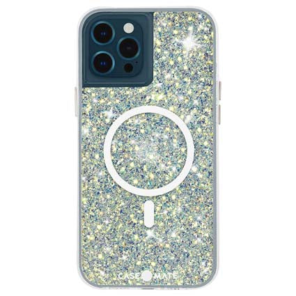 Case-Mate Twinkle Case for iPhone 12 and iPhone 12 Pro (5G) - Compatible with MAGSAFE Accessories & Charging - 6.1 Inch - Stardust