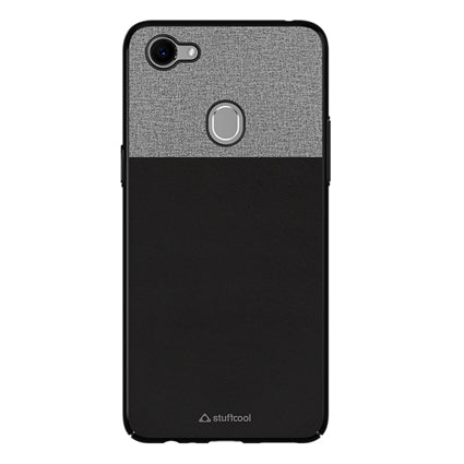 newest 4bba4 d84a5 Stuffcool Eto Elegent & Stylish PU Leather Back Case Cover for Oppo F7 -  Black