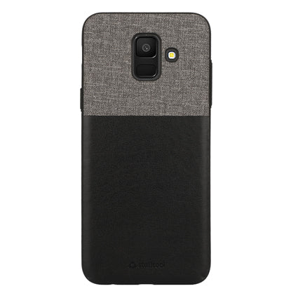 Stuffcool Eto Elegent & Stylish PU Leather Back Case Cover for Samsung Galaxy A6 (2018) - Black