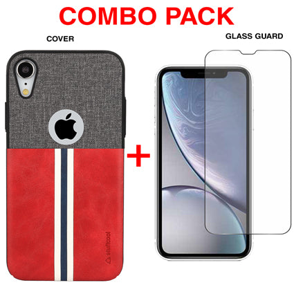Stuffcool Combo Pack Eto Sport PU Leather Back Case Cover + Tempered Glass Guard for Apple iPhone XR