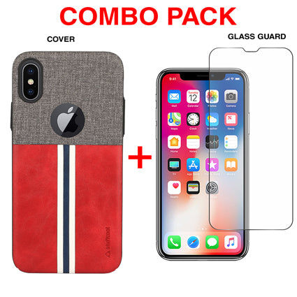 Stuffcool Combo Pack Eto Sport PU Leather Back Case Cover + Tempered Glass Guard for Apple iPhone XS Max
