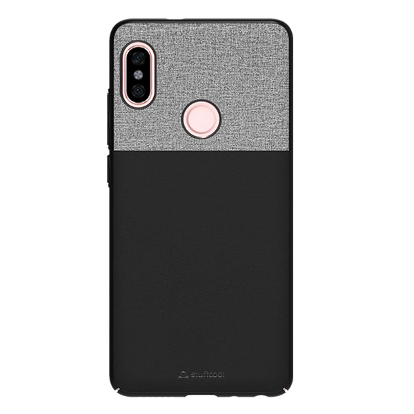 Stuffcool Eto Elegent & Stylish PU Leather Back Case Cover for Xiaomi Redmi Note 5 Pro - Black
