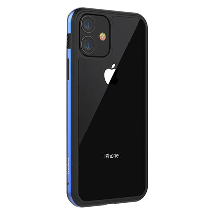 Stuffcool Frame Hard Clear Back Case Cover with Slim Metallic Bumper for Apple iPhone 11 6.1""