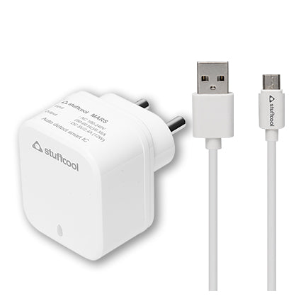 Stuffcool Charge it 2.4A Dual USB Wall Charger with 1M Micro USB Cable