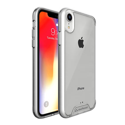 Stuffcool Ice Hybrid Solid Soft Frame & Hard Back Case Cover for Apple iPhone XR - Clear