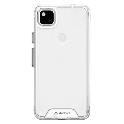 Stuffcool Hybrid Solid Soft Frame & Hard Back Case Cover for Google Pixel 4a - Transparent