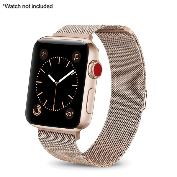 Stuffcool iWatch Stainless Steel Mesh Loop Strap Band with Adjustable Magnetic Closure For Apple Series 6/5/4/3/2/1 42-44mm