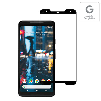 Stuffcool Mighty 2.5D Full Screen Tempered Glass Screen Protector Guard for Pixel 2 XL - Black (Case Friendly & Edge to Edge) (Authorised made for Google Pixel Accessory)