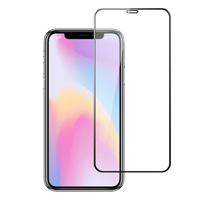 Stuffcool Mighty 2.5D Full Screen Tempered Glass Screen Protector Guard for Apple iPhone XR - Black (Case Friendly & Edge to Edge)
