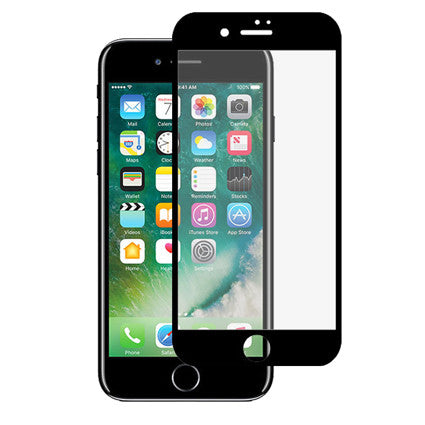 Stuffcool Mighty 2.5D Full Screen Tempered Glass Screen Protector for Apple iPhone 7 (Case Friendly & Edge to Edge)