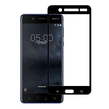 Stuffcool Mighty 2.5D Full Screen Tempered Glass Screen Protector for Nokia 5 - (Case Friendly & Edge to Edge)