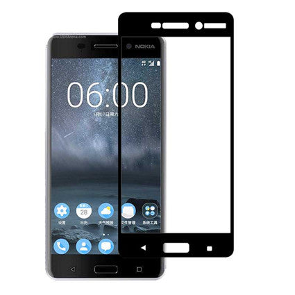 Stuffcool Mighty 2.5D Full Screen Tempered Glass Screen Protector for Nokia 6 (Case Friendly & Edge to Edge)