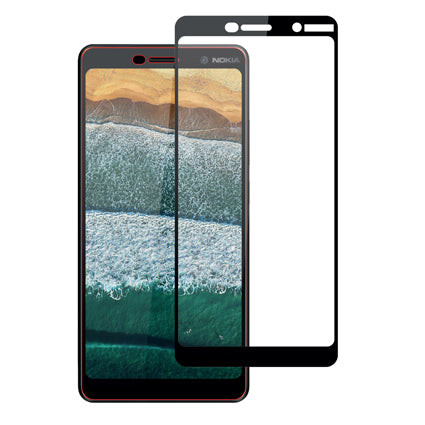 Stuffcool Mighty 2.5D Full Screen Tempered Glass Screen Protector Guard for Nokia 7 plus - Black (Case Friendly & Edge to Edge)