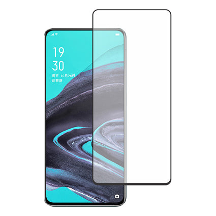Stuffcool Mighty 2.5D Full Screen Tempered Glass Screen Protector for Oppo Reno 2 - Black (Case Friendly)