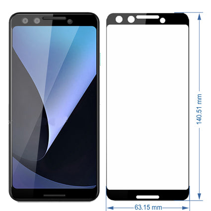 promo code 8bb0d 55305 Stuffcool Mighty 2.5D Full Screen Tempered Glass Screen Protector for  Google Pixel 3 - Black (Case Friendly & Edge to Edge)