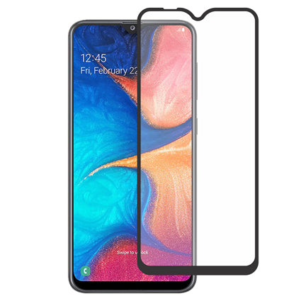 Stuffcool Mighty 2.5D Full Screen Tempered Glass Screen Protector for Samsung Galaxy A20 (Edge to Edge) - Black