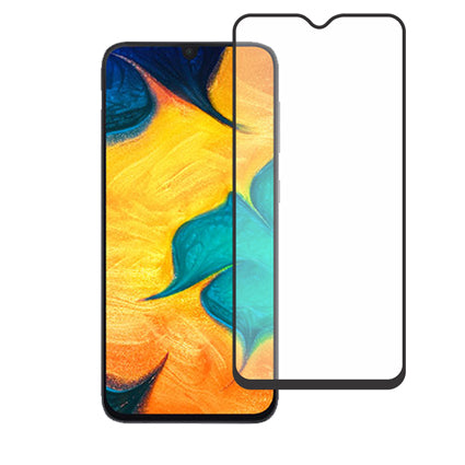 Stuffcool Mighty 2.5D Full Screen Tempered Glass Screen Protector for Samsung Galaxy A30 / Galaxy A50 - Black