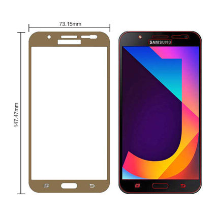 Stuffcool Mighty 2 5D Full Screen Tempered Glass Screen Protector for  Samsung Galaxy J7 Nxt - Case Friendly & Edge to Edge)