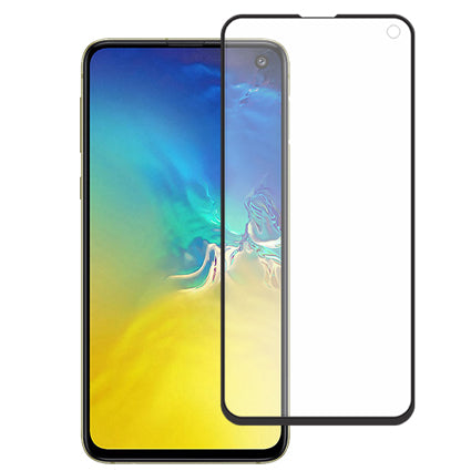 Stuffcool Mighty 2.5D Full Screen Tempered Glass Screen Protector for Samsung Galaxy S10e / S10 Lite  - Black
