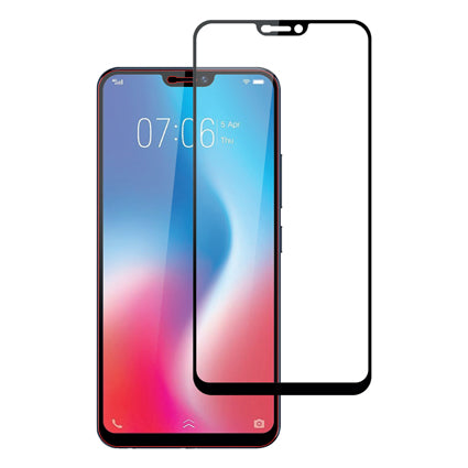 Stuffcool Mighty 2.5D Full Screen Tempered Glass Screen Protector Guard for Vivo V9 - Black (Case Friendly & Edge to Edge)