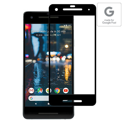 Stuffcool Mighty 3D Curved Full Screen Tempered Glass Screen Protector for Pixel 2 (Case Friendly & Edge to Edge) - Black (Authorised made for Google Pixel Accessory)