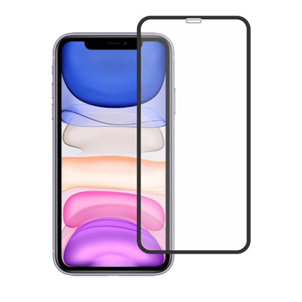 "Stuffcool Mighty 3D Curved Full Screen Tempered Glass Screen Protector for Apple iPhone 11 6.1"" - Black (with Applicator)"