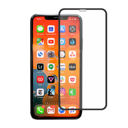 "Stuffcool Mighty 3D Curved Full Screen Tempered Glass Screen Protector for Apple iPhone 11 Pro Max 6.5"" - Black (with Applicator)"