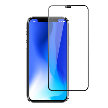 Stuffcool Mighty 3D Curved Full Screen Tempered Glass Screen Protector for Apple iPhone XS Max - Black (Case Friendly & Edge to Edge)