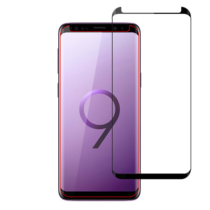Stuffcool Full Covarage 3D Tempered Glass Screen Protector for Samsung Galaxy S9 with Applicator (Case Friendly & Edge to Edge)