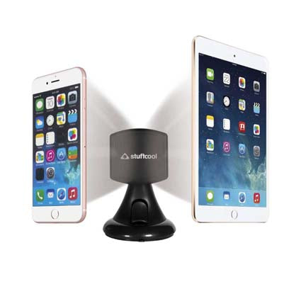Stuffcool Mag Hold Magnetic Universal Car Mount Holder for All Smartphones, Tablet & iPad - Black