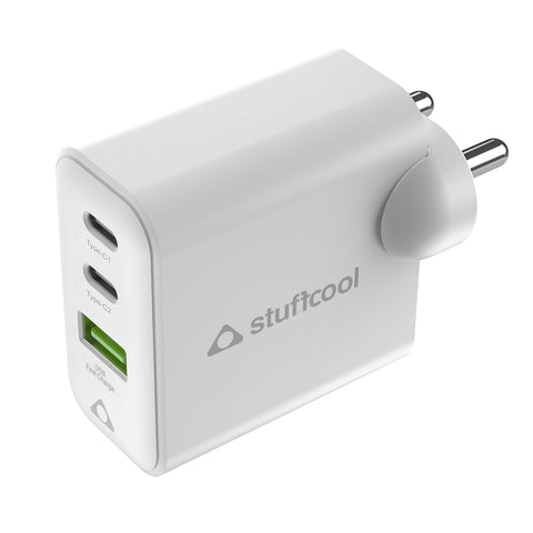 Stuffcool Napoleon PD65W Dual USB GaN Wall Charger for MacBook, Ultrabook, iPhones, iPads, Tablets, Gaming consoles