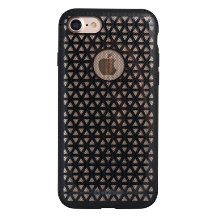 Stuffcool Patron Sporty Mesh Hard Back Case Cover for Apple iPhone 8 / iPhone 7 - Black